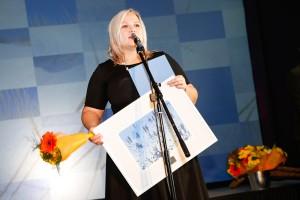 """Ühe kahest aasta teo tiitlist sai Jõgevamaa gümnaasiumi projekti- ja noorsootööjuht Nele Graverson, kelle eestvedamisel teostati projekt """"Ettevõtlik noor = noor ettevõtja?"""""""