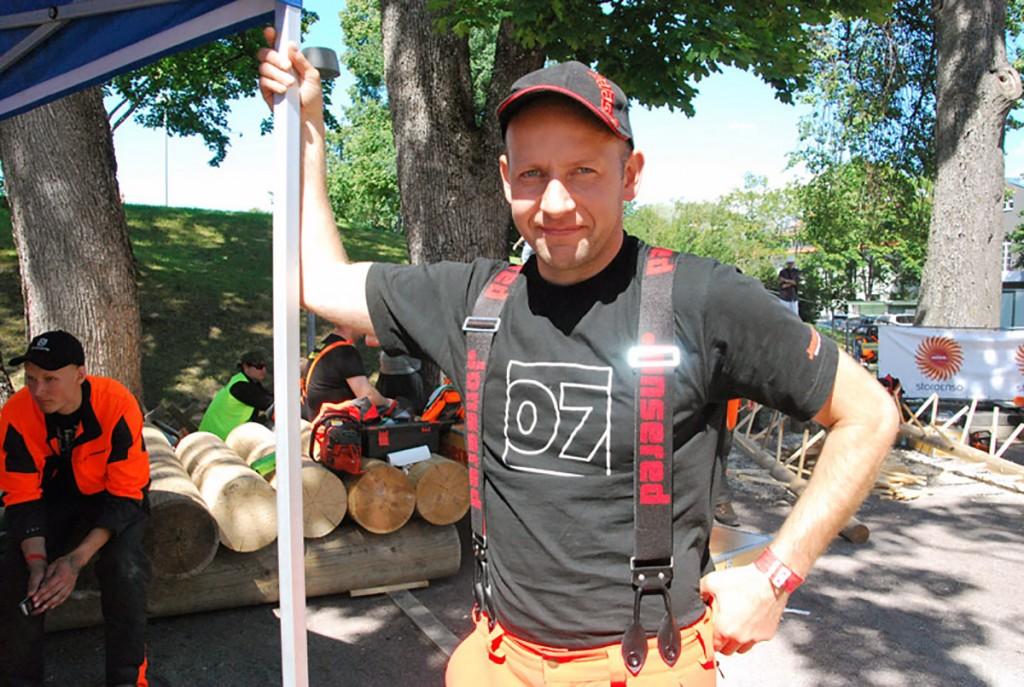 Norras võistlev Taavi Ehrpais, kes võitis Poolas toimunud Raiespordi maailmameistrivõistlustel kuldmedali täpsussaagimises Foto Urmas Saard