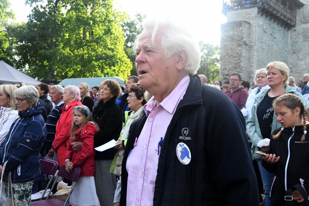 Osvald Sasko Paide Vallimäel. Foto Urmas Saard