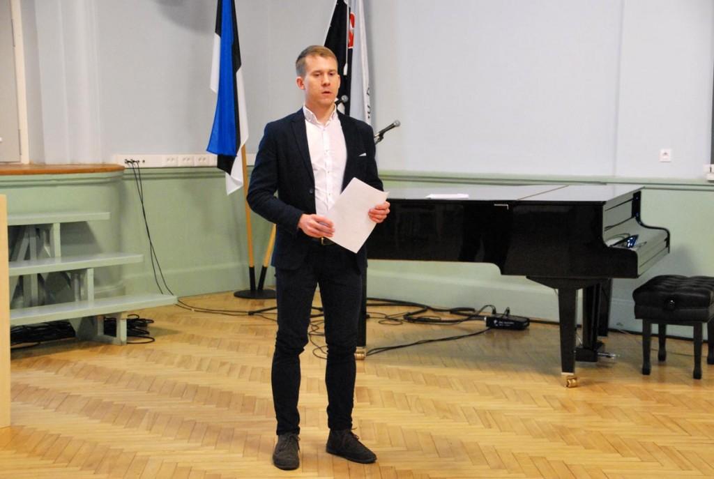 Pärnu Ühisgümnaasiumi vilistlane Martin Andla omandab kõrgharidust Inglismaal Foto Urmas Saard