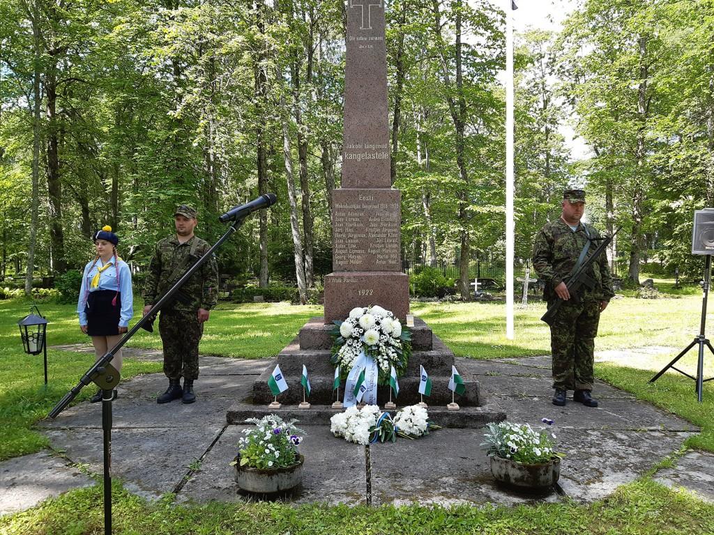 Pärnu-Jaagupi Vabadussõjas langenute mälestussammas. Foto Terje Papp