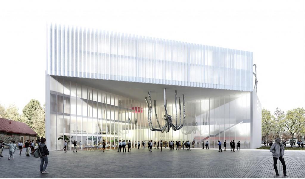 Pärnu kunstihoone arhitektuurivõistluse võidutöö