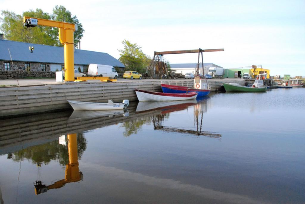 Pärnumaal Tahkuranna vallas asuv uuendatud Võiste väikelaevade kalasadam Foto Urmas Saard