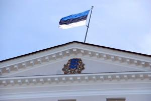 Riiklik sümboolika valitsushoonel Foto Urmas Saard