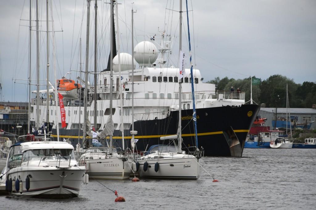 Ristluslaev Serenissima saabub Pärnusse Foto Urmas Saard