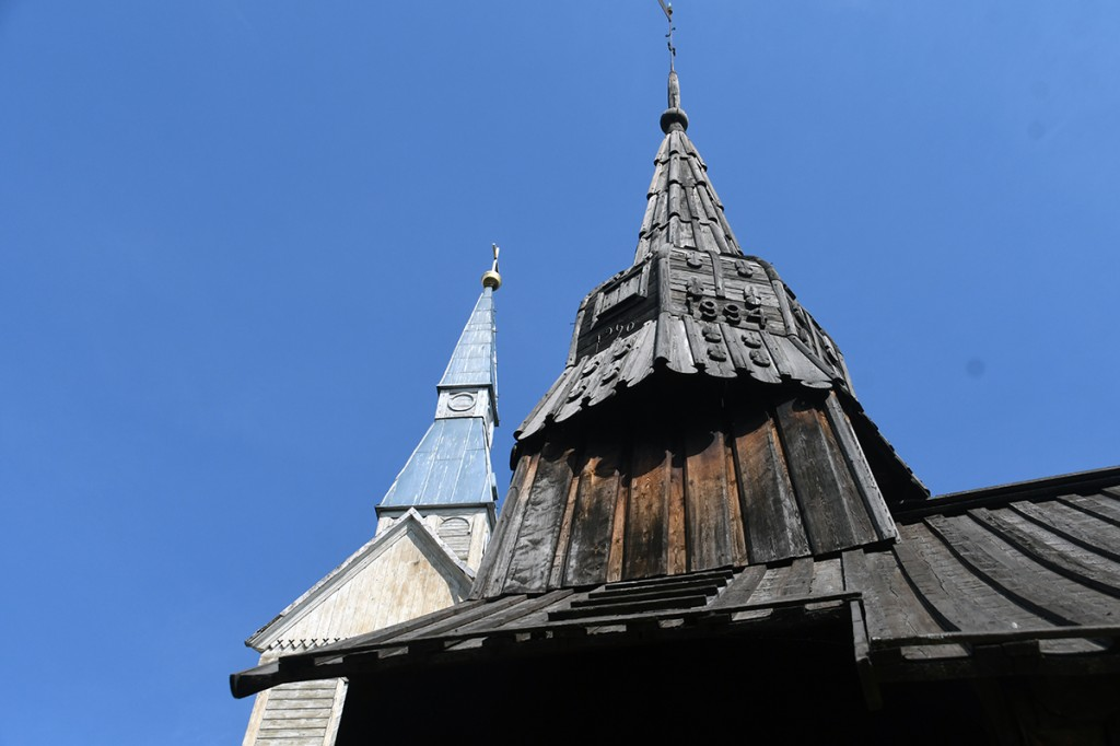 Ruhnu uue ja vana kiriku tornid Foto Urmas Saard