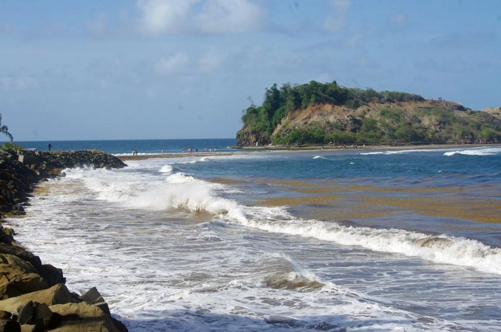 Saint-Marie saar, mis on kuulus turismiatraktsioon tänu tombolo-nimelisele nähtusele Foto Liis Raal-Virks