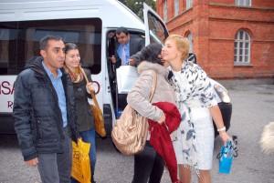 Silva Sikk tervitab neljast riigist saabuvaid õpetajaid Foto Urmas Saard