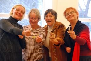 Sindi Linnaraamatukogu naispere aasta esimesel tööpäeval Foto Urmas Saard