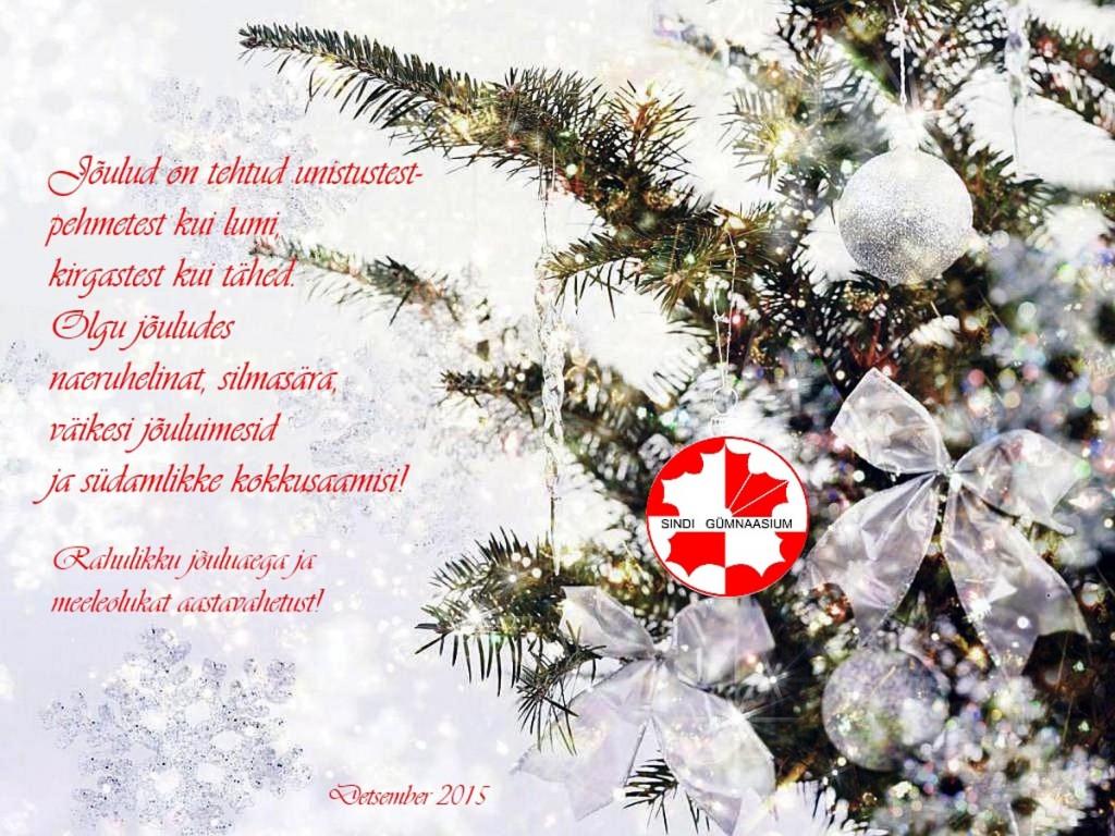 Sindi gümnaasiumi jõulukaart