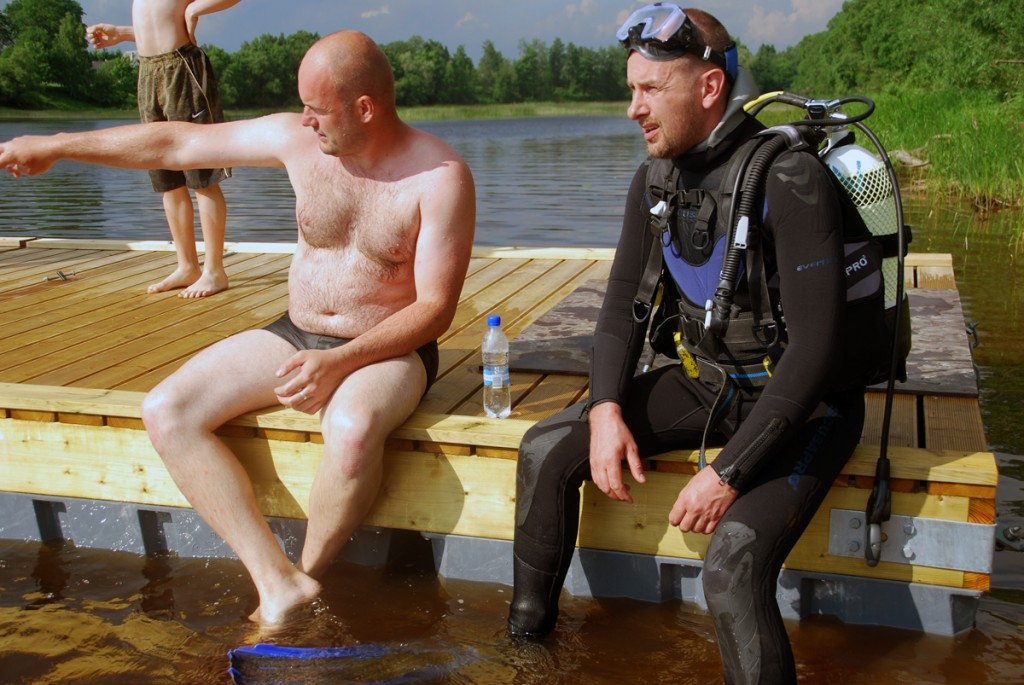 Sindi ujulas puhastatakse jõe põhja Foto Urmas Saard