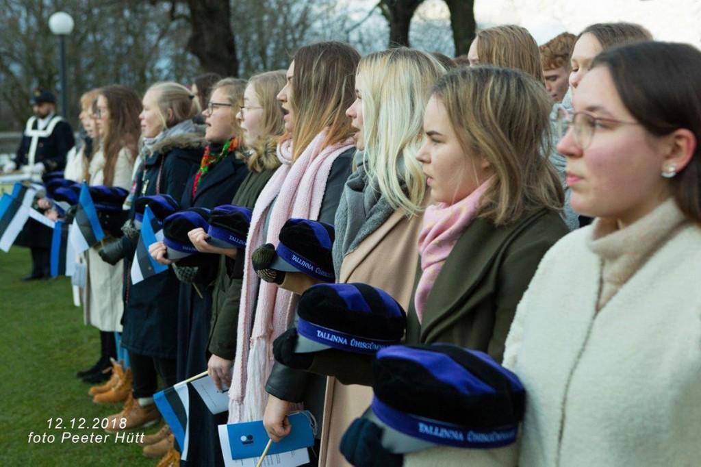 Tallinna koolinoored Kuberneri aias. Foto Peeter Hütt