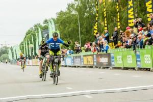 Võidukas soomlane finišijoonel. Foto: Tarmo Haud