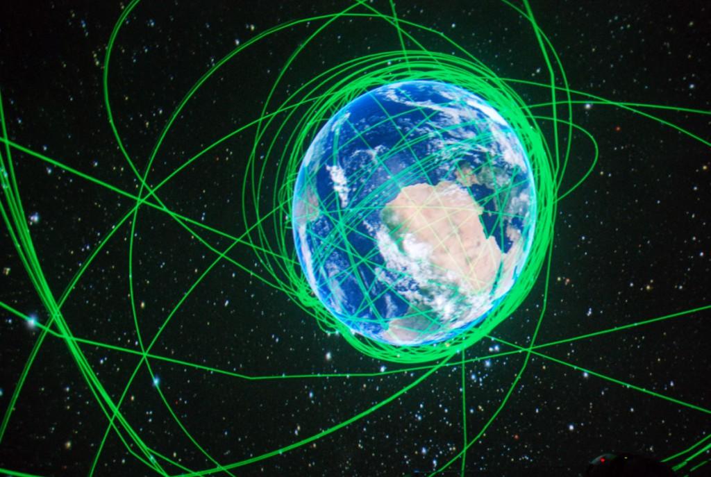 Teaduskeskuse AHHAA täissfääriline planetaarium Foto Urmas Saard