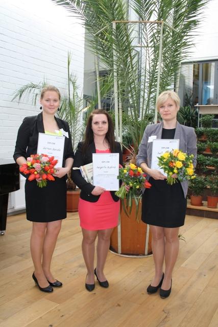 Tippsekretär 2014 võitjad, vasakult Karmen Kaevats, Margarita Kopteva, Madli Petuhhov. Foto: SA Innove