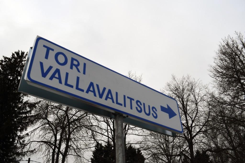 Uus teeviit Sindi linnas Pärnu maantee ja Karja tänava ristmikul Foto Urmas Saard