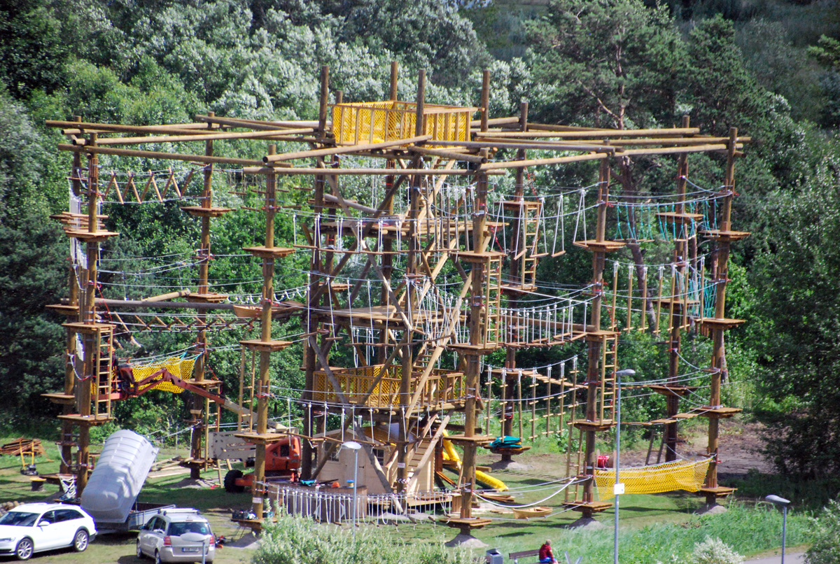 ab0f610c060 Vaade 14 m kõrgusele seikluspargile hotell Tervise Paradiis kõige ülemiselt  korruselt Foto Urmas Saard