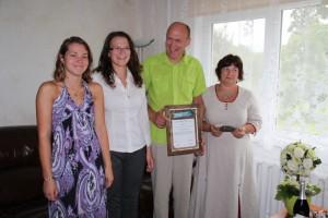 Valgamaa kogukonna pärl 2012: Pille ja Indrek Valneri pere. Foto: Külaliikumine Kodukant