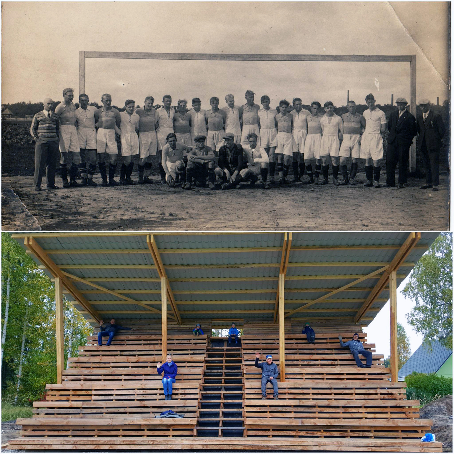 Vana ja uus foto enamvähem samast asukohast Alumise foto autor on Marko Šorin ja ülemine kuulub samuti tema kogusse
