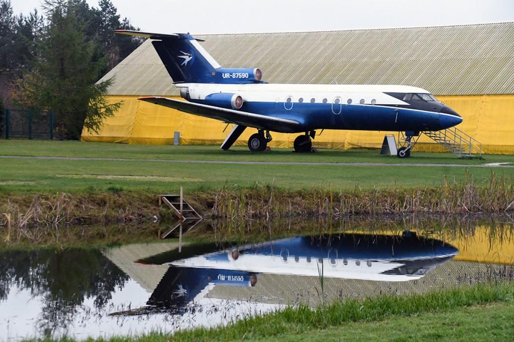Venemaa reisilennuk JAK-40 Eesti Lennundusmuuseumis Foto Urmas Saard