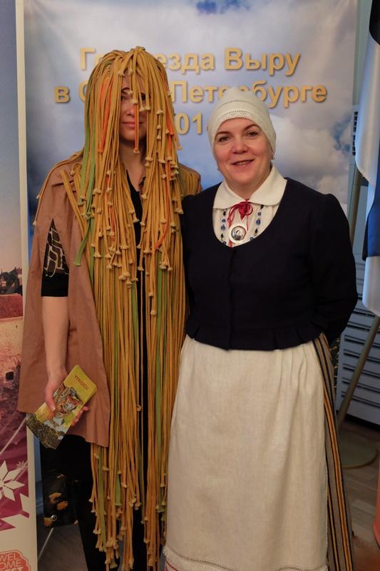 Viktoria Tuulas koos pokuga Võrumaa aasta avamisel Peterburis