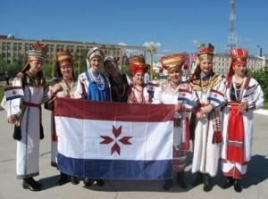 Mordva Riikliku Ülikooli juures tegutsev folklooriansambel Kelu (Kask). Foto: fennougria.ee