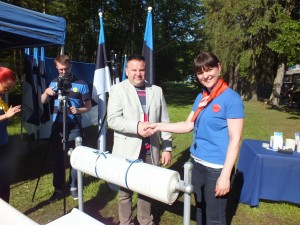 Maailma pikim Eesti lipp sündis tähistamaks Eesti lipu 130. sünnipäeva. Fotod: Jaan Uibo
