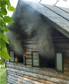 Suitsusaun ehk savusann küdemas. Foto: ohtuleht.ee