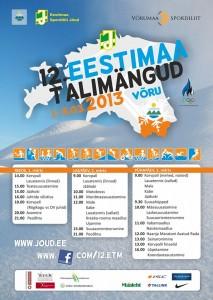 Eestimaa talimängude kava.