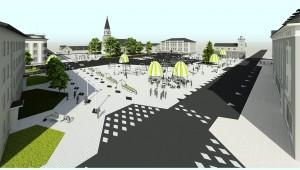 """Võru keskväljaku arhitektuurikonkursi võidutöö """"Urban Gadget"""". Illustratsioon: Eesti Arhitektide Liit"""